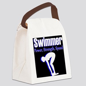 AMAZING SWIMMER Canvas Lunch Bag