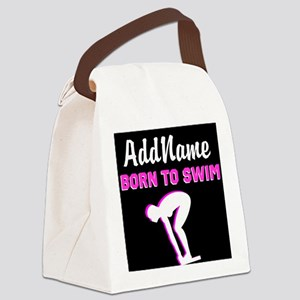 LOVE TO SWIM Canvas Lunch Bag