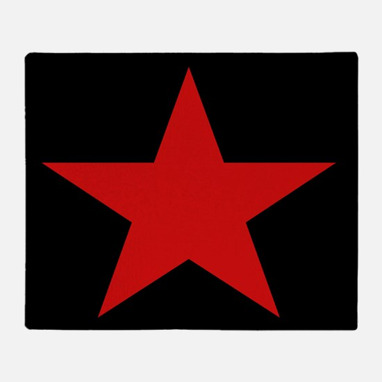 Red Star Woven Blanket Throw Blanket