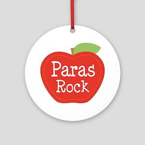 Paraeducator Paras Rock apple Ornament (Round)