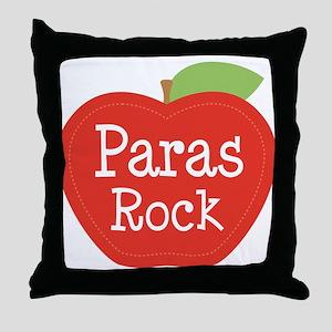 Paraeducator Paras Rock apple Throw Pillow