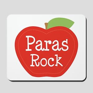 Paraeducator Paras Rock apple Mousepad