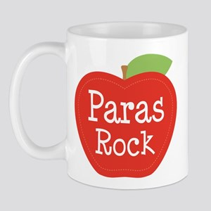 Paraeducator Paras Rock apple Mugs