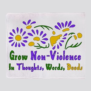 Grow Non-Violence Throw Blanket