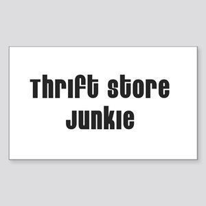Thrift Store Junkie Rectangle Sticker