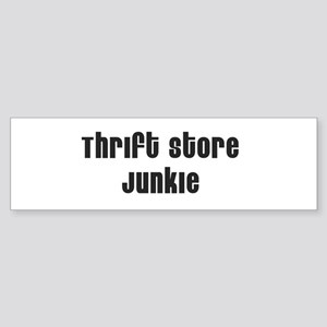 Thrift Store Junkie Bumper Sticker