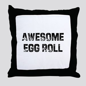 Awesome Egg Roll Throw Pillow