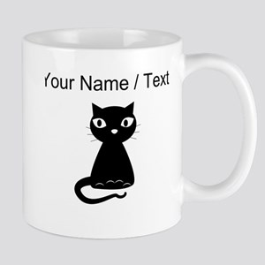 Custom Cartoon Black Cat Mugs