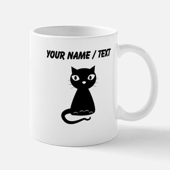 Custom Cartoon Black Cat Mugs