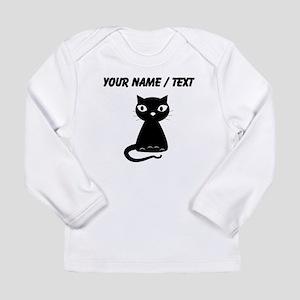 Custom Cartoon Black Cat Long Sleeve T-Shirt
