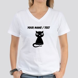Custom Cartoon Black Cat T-Shirt
