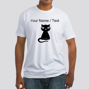 Custom Cartoon Black Cat T-Shirt