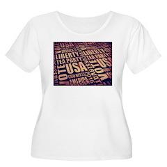 Tea Party Text Plus Size T-Shirt
