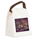 Tea Party Text Canvas Lunch Bag