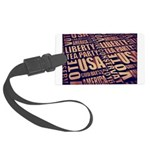 Tea Party Text Luggage Tag