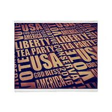 Tea Party Text Throw Blanket
