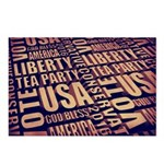 Tea Party Text Postcards (Package of 8)