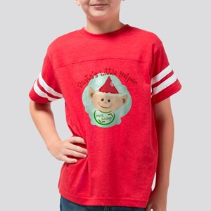 santas little helper elf jami Youth Football Shirt