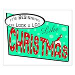 Retro Christmas Small Poster