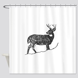 White Tailed Deer Trophy Buck Shower Curtain