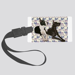 Great Danes and Flowers Luggage Tag