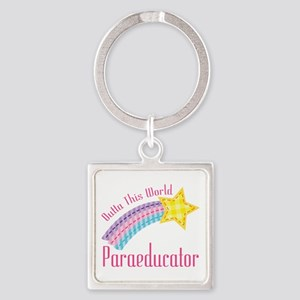 Outta This World Paraeducator Square Keychain