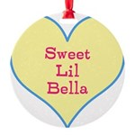 Sweet Lil Bella Heart Ornament