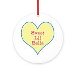 Sweet Lil Bella Heart Round Ornament