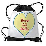 Sweet Lil Bella Heart Drawstring Bag