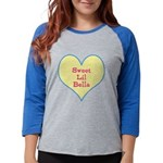 Sweet Lil Bella Heart Womens Baseball Tee