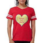 Sweet Lil Bella Heart Womens Football Shirt