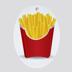 French Fries Ornament (Oval)