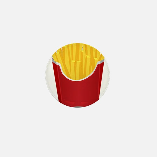 French Fries Mini Button