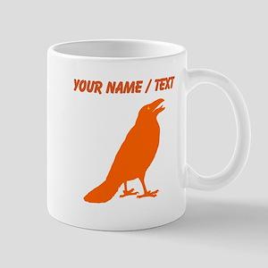 Custom Orange Crow Mugs