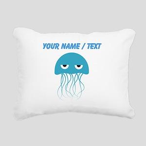 Custom Light Blue Jellyfish Rectangular Canvas Pil