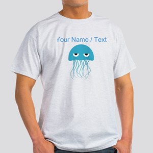 Custom Light Blue Jellyfish T-Shirt