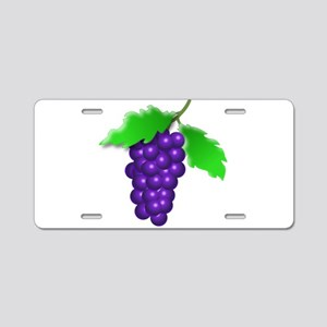 Grapes Aluminum License Plate