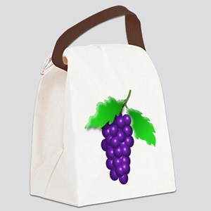Grapes Canvas Lunch Bag