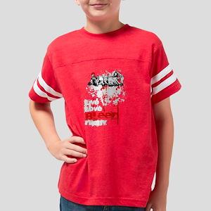 livebleedrugby2BLACK.11 Youth Football Shirt