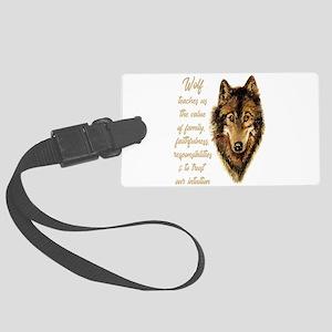 Wolf Totem Animal Spirit Guide f Large Luggage Tag