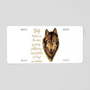 Wolf Totem Animal Spirit Gu Aluminum License Plate