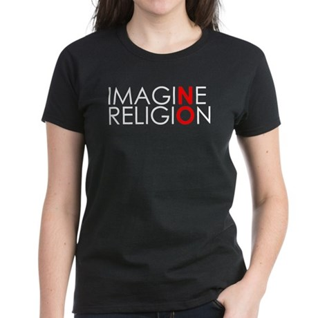 imagine no religion black copy T-Shirt