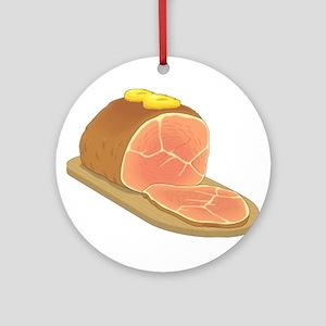Sliced Ham Ornament (Round)