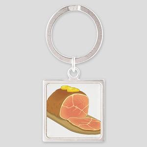 Sliced Ham Keychains