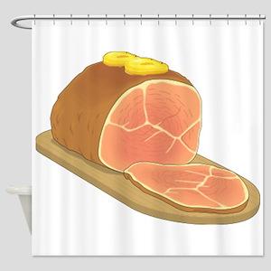 Sliced Ham Shower Curtain