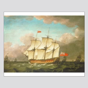 HMS Victory by Monamy Swaine Posters