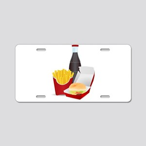 Fast Food Meal Aluminum License Plate