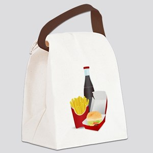 Fast Food Meal Canvas Lunch Bag