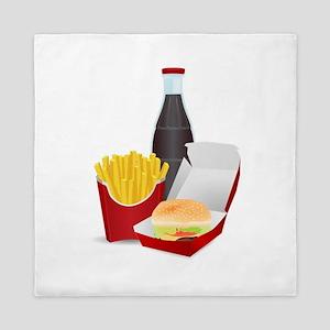 Fast Food Meal Queen Duvet