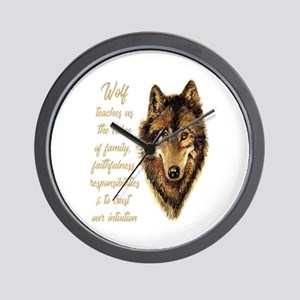Wolf Totem Animal Spirit Guide for Insp Wall Clock